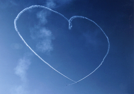 heart in sky